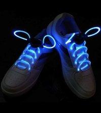 Светящиеся синие LED шнурки