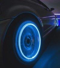 Комплект из 4 синих LED подсветок для колес автомобиля