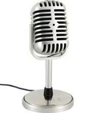 Ретро микрофон в стиле Shure для компьютера